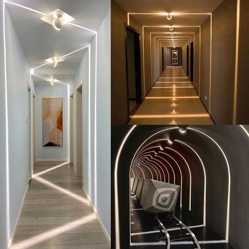 벽 램프 IP67 방수 실내 야외 LED Sconce 라이너 통로 침실 장식 조명 창 조명 램프
