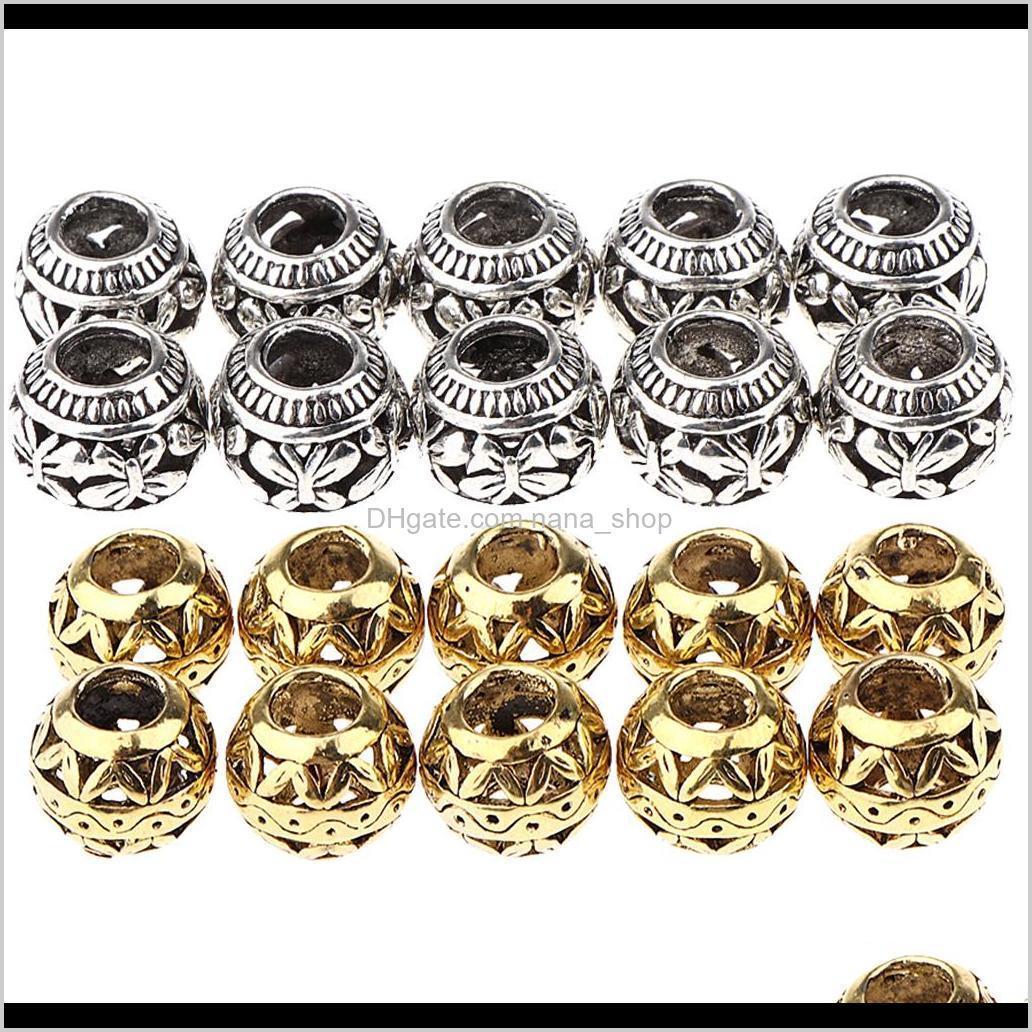 ShampoOconditioner 20 Stück 4Dot5mm Durable Braid Ringe Clips, Haardekorationen Perlen, SIER Golden Schmuckherstellung von Perlen KKCFE 1RYLP