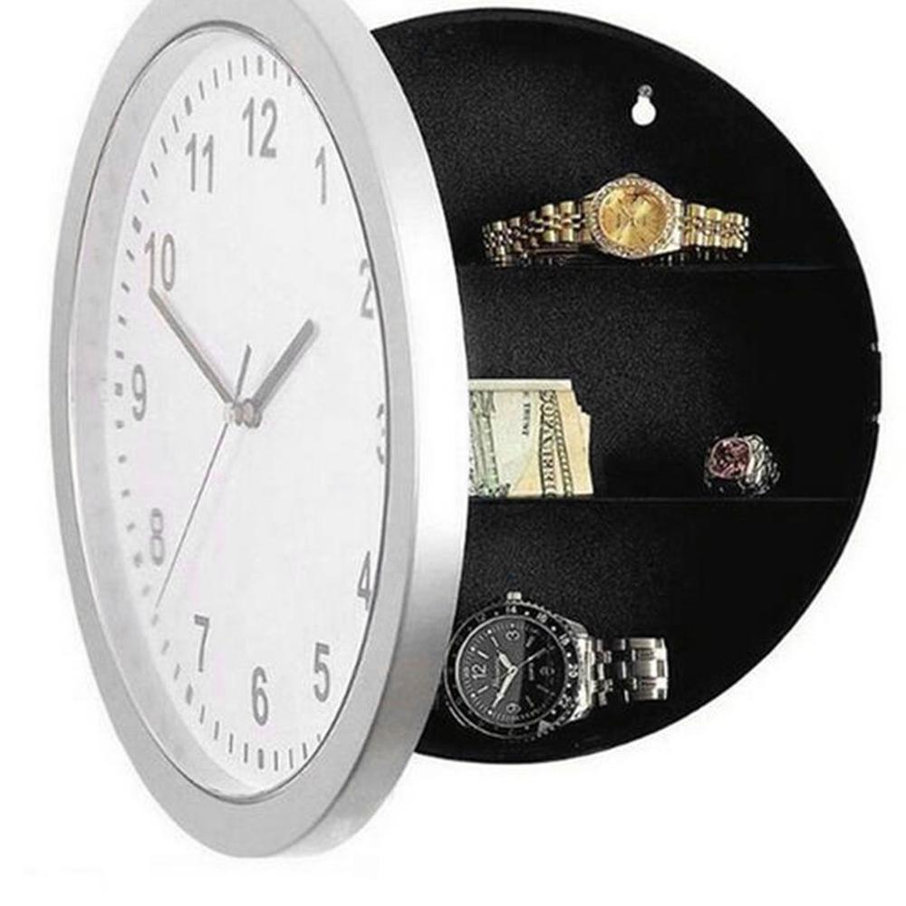 Leshp الخفية آمنة كبيرة ساعة الحائط مربع سلامة مربع السري secuirty صندوق المال المجوهرات الاشياء تخزين المنزل مكتب خزائن النقدية بالجملة L0331