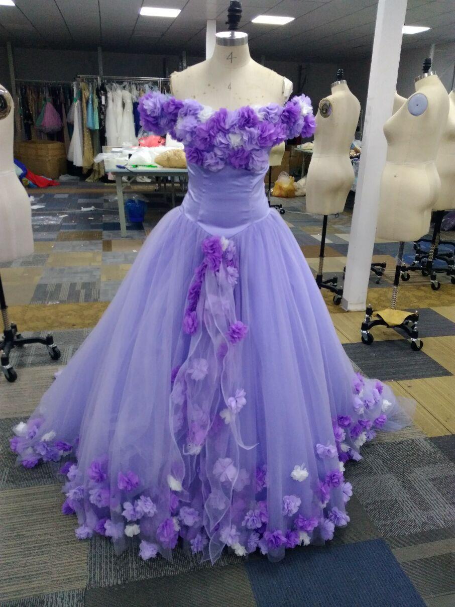 2021 echte Bilder außerhalb der Schulter Ballkleider dame Abendkleid formale bodenlangen mit handgefertigten blumen maßgeschneiderte tragen