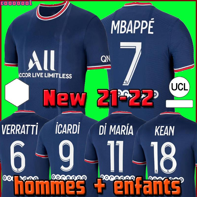 축구 키트 드 Maillots (20 개) (21) 축구 유니폼 2020 2021 MBAPPE ICARDI 네이 마르 셔츠 JR 남자 아이 세트 균일 한 타이츠 드 발 병력의 enfants