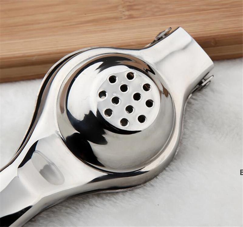 스테인레스 스틸 레몬 압착기 레몬 수동 Juicer 튼튼한 라임 짜기 방지 부식성 수동 라임 신선한 주스 도구 DHE6298