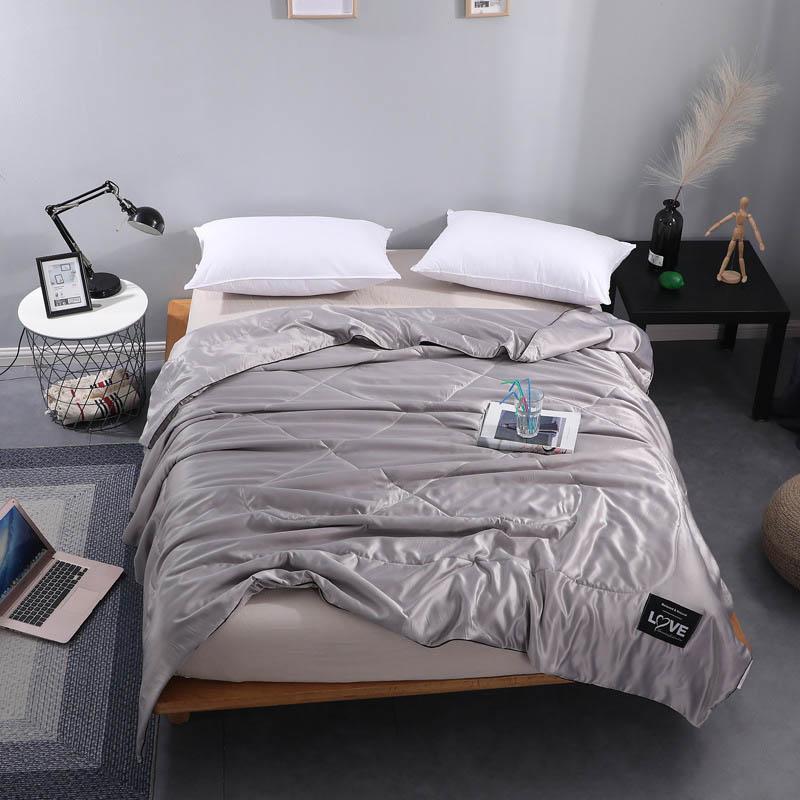 Bettdecken setzt kühle Faser Sommer Quilt Klimaanlage Bettdecke Bettdecke gesteppte Bettdecke für doppelte Königin King Bettwäsche Coveret Plaid
