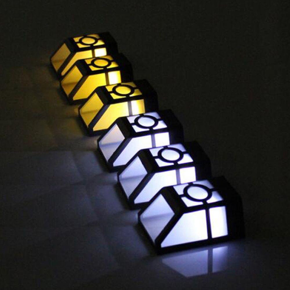 8pcs LED Solar Powered Parede Montagem LED Luz de Jardim ao Ar Livre Paisagem Paisagem Paisagem Lâmpada de Jardim Solar Luz
