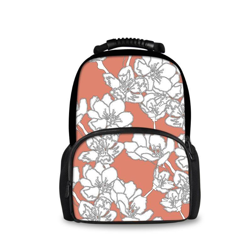 Mochila personalizada impressão flor 3d meninos e meninas sacos de escola mochila diária infantil