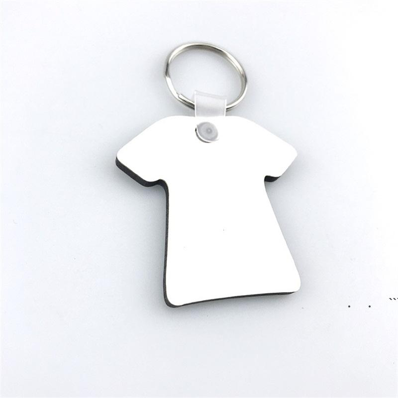 keychains For Sublimation Mdf Heart Round Love Key Chain Thermal Transfer Printing DIY Blank Material Party Favor EWE5969