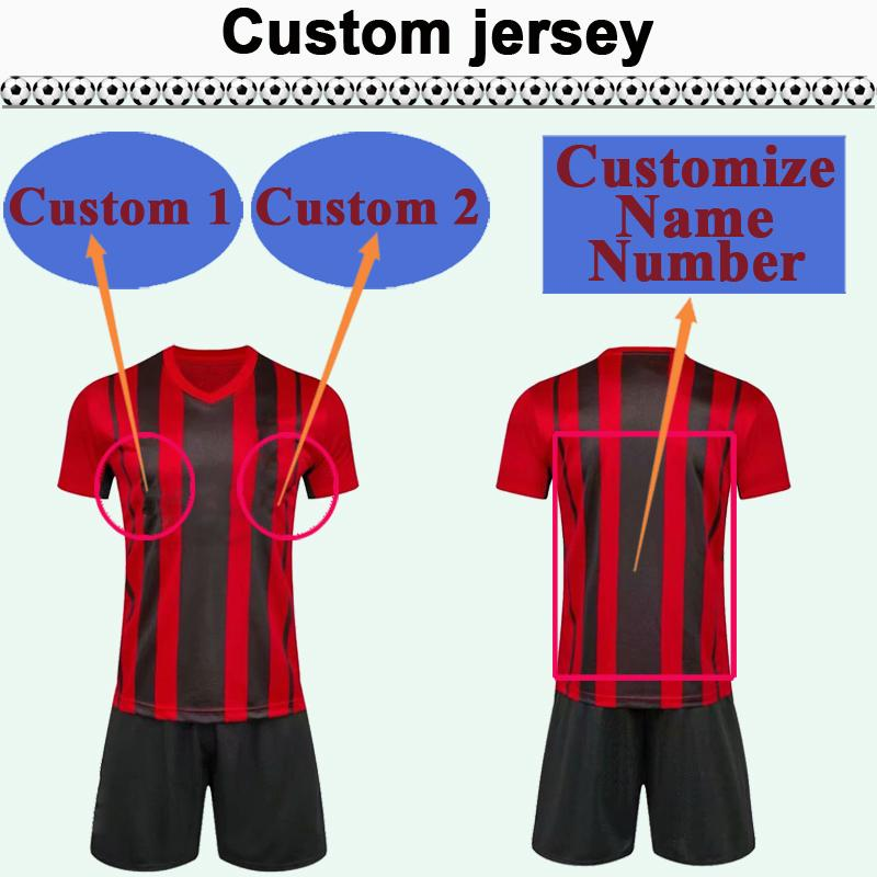 Custom National Team Club Mens Soccer Jersey Kit Vous pouvez personnaliser les chemises de football de design et le numéro de football, tel que 27 Shangxi