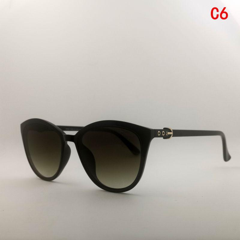 Gafas de sol de diseñador para mujer high quality fashion sunglasses woman uv400 discoloration adumbral cat eye women sunglasses round