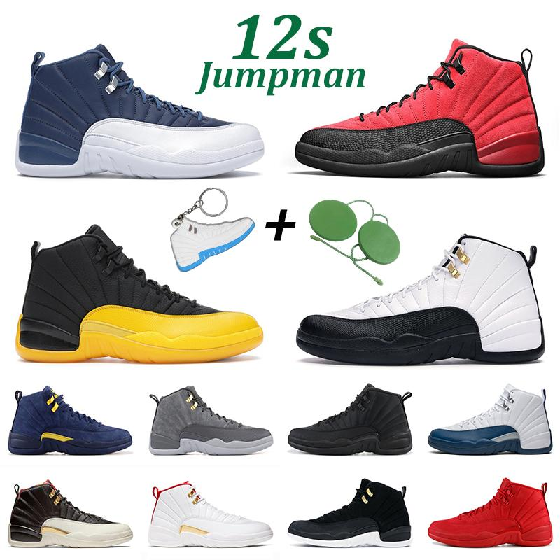 Chaussures de basket-ball 12S Jumpman 12 hommes Femmes Dark Concord Game Jeux Universitaire Gold Indigo Playoff Taxi Black Hommes Sports Trainer Sneakers Taille 7-13