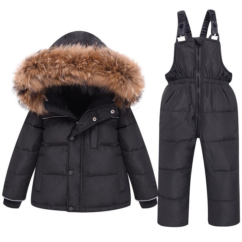 Tuta invernale per bambini giù Addensare Addensare Baby Boy Ski Suit Bambino Bambino Ragazza Snowsuit Children Parka Kid Moda Cappotto per Bambino 201127