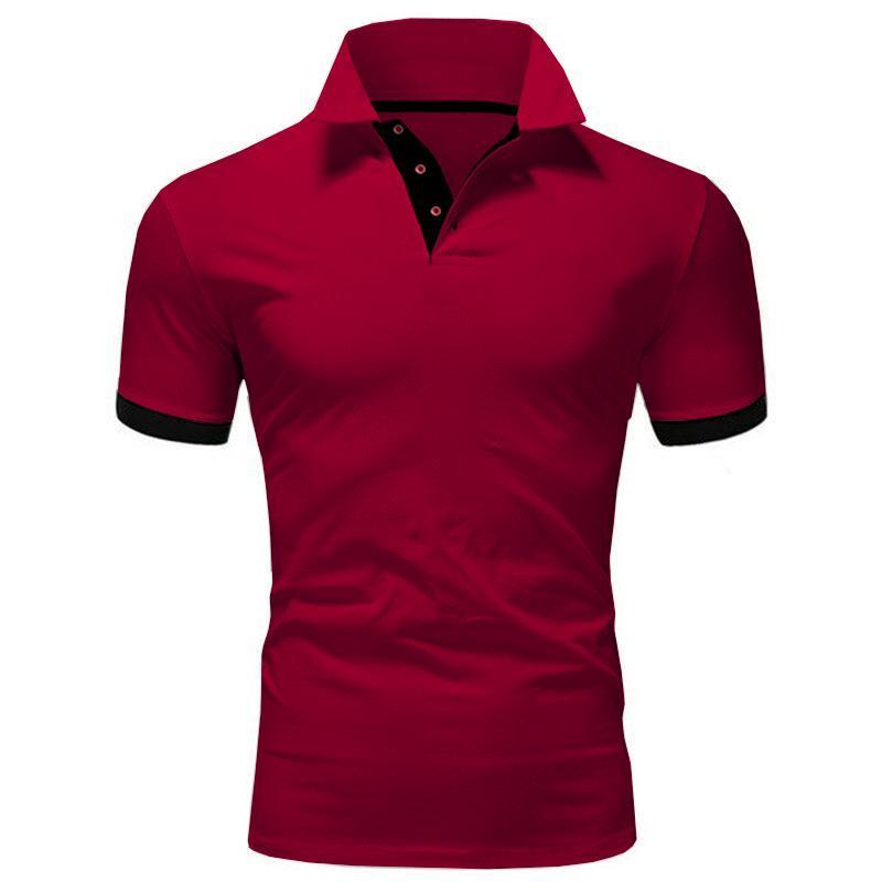 Erkek Polos Yaz Kısa Kollu Gömlek Erkekler Moda Gömlek Rahat Ince Düz Renk Iş Giyim