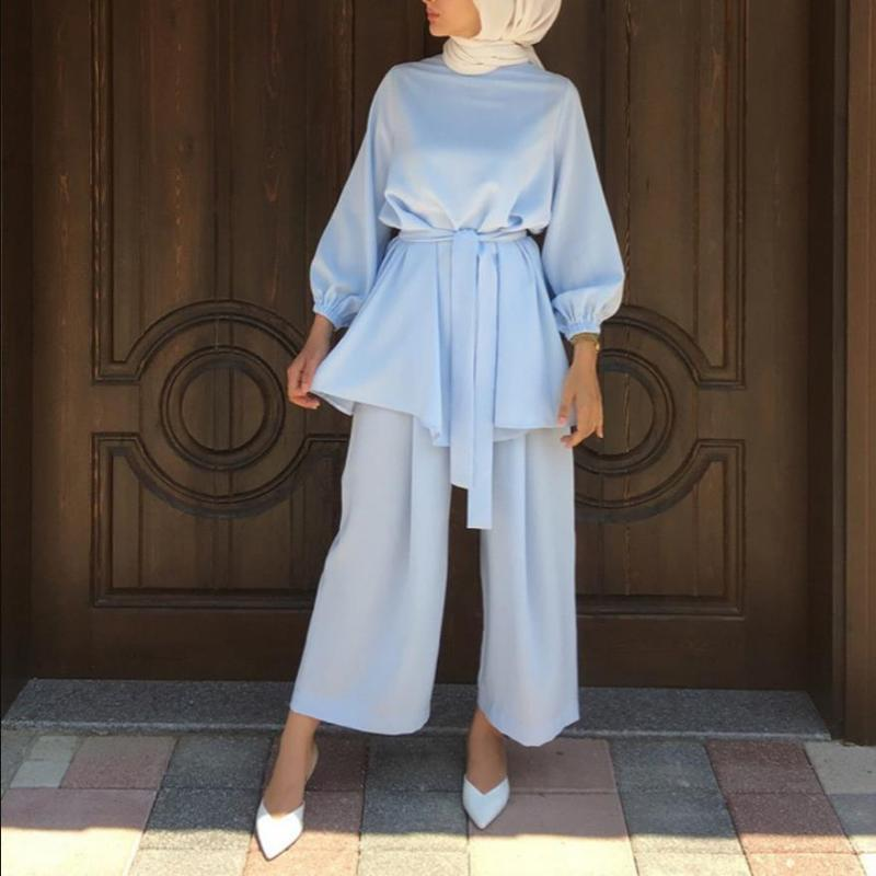 Roupas étnicas Abaya Turquia Hijab Dress Supid MUBEEK Duas Peças Muslim Sets Caftan Kaftans Islam Abayas para Mulheres Musulman Conjunes