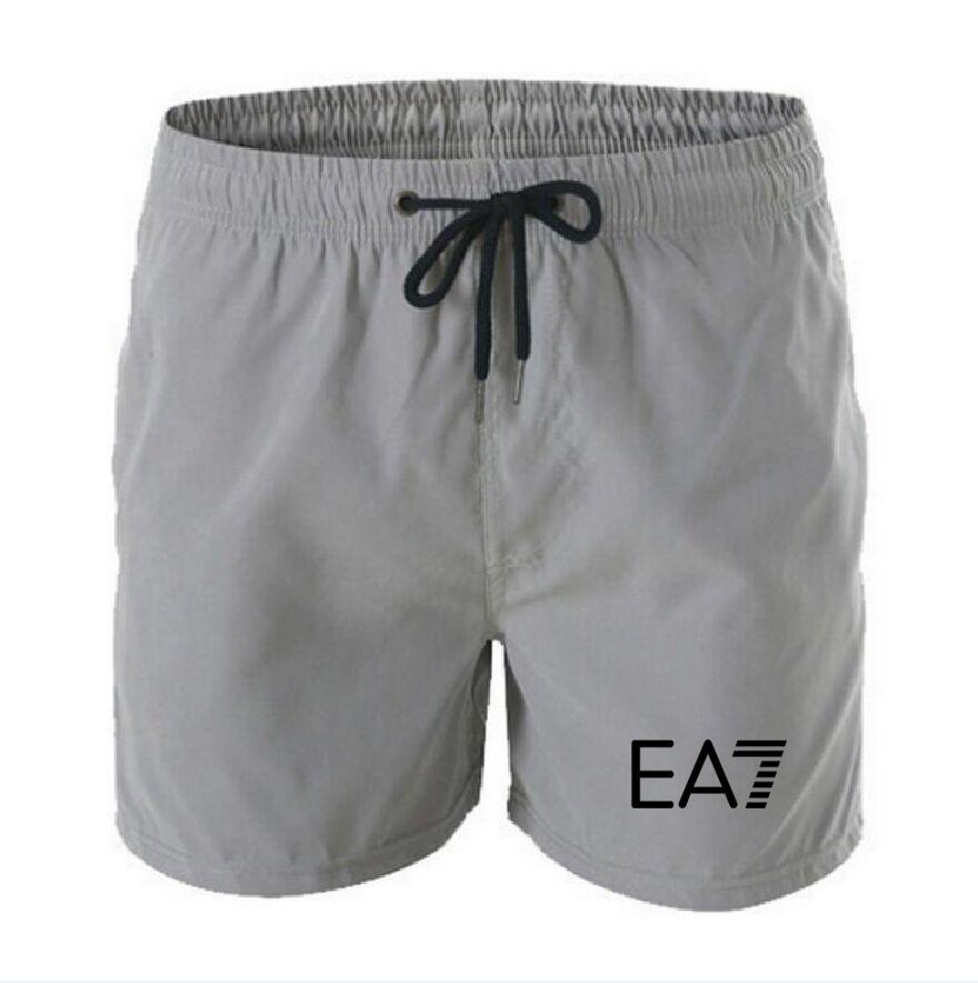 2021 Summer Casual Cotton Fashion Style Brand Stampa pantaloncini da maschio coulisse in vita Elastico Pantaloni Beach Spiaggia 13 Colore bianco nero