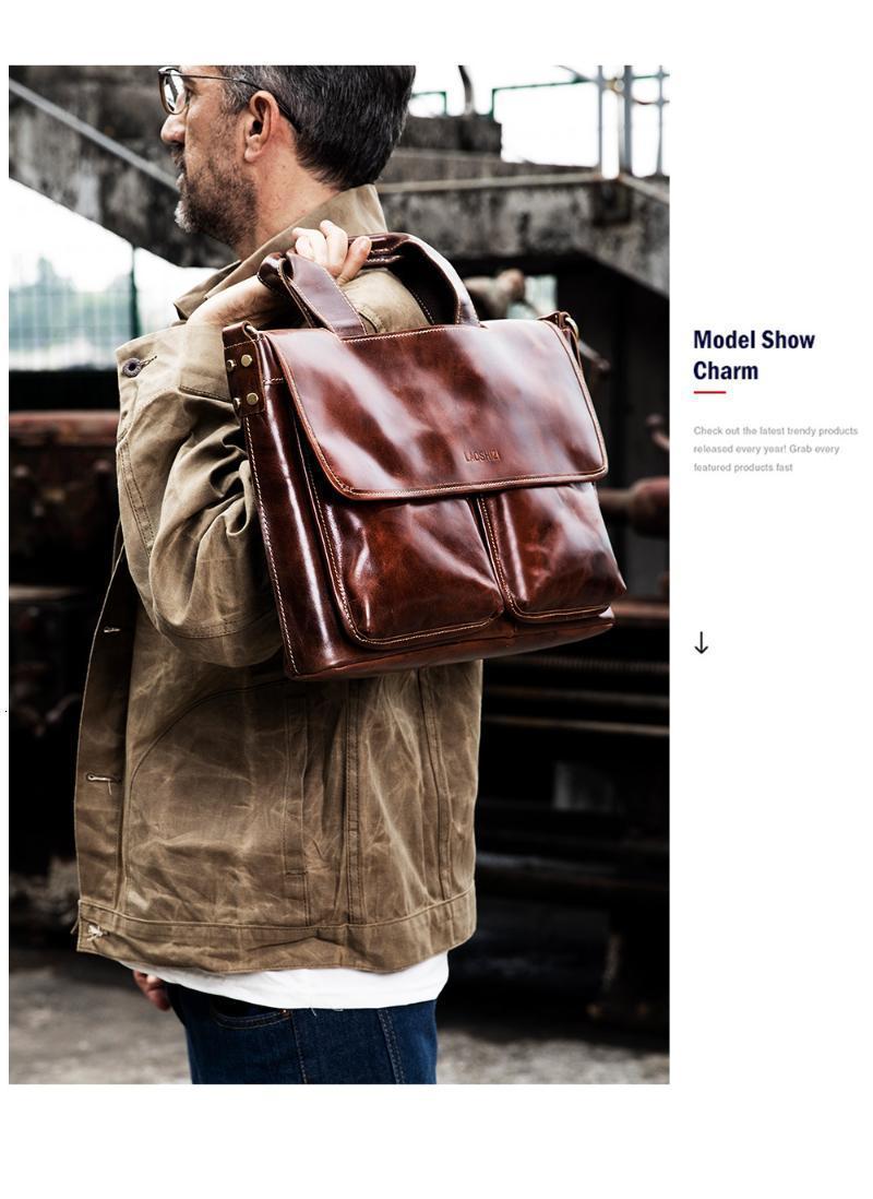 Evrak Çantaları High-end deri çanta iş erkek çanta erkek bilgisayar erkek rahat evrak çantası1 81JD
