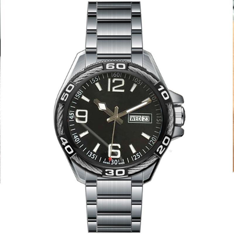 Classico uomo orologi 40mm cinturino in acciaio inox di alta qualità movimento automatico di alta qualità orologi da polso uomo business orologio casual montre de luxe orologio da polso