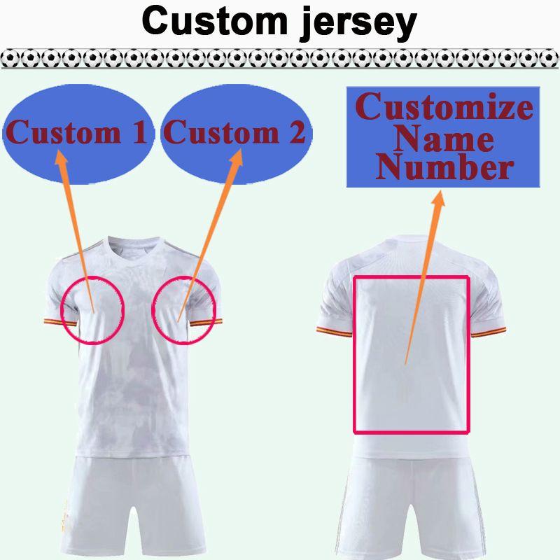 Kit de jersey de football National Team Club sur mesure Vous pouvez personnaliser les chemises de football de conception Nom et numéro de football, tels que 49 Guiyang
