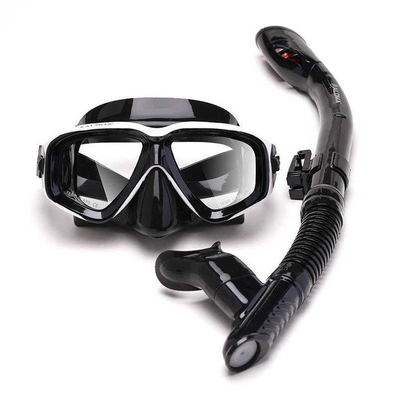 Diving Masks The Scuba Mask 30m Deep Anti-Fog Goggles Complete Set With Snorkel Equipment Dry Tube