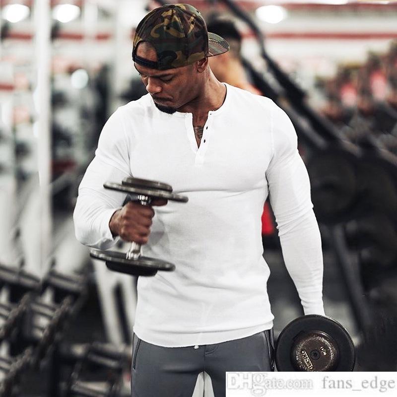 Muscle Mens Man Brothers Autumn Mens Man Underwear Sweat Shirt T Fitness Training Tights Mens Man Long-Sleeved Sports T-shirt Slim Fit