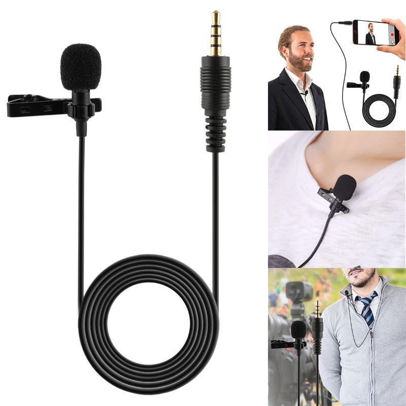 3.5mm klip yaka mikrofon eller ücretsiz kablolu kondenser mini lavalier mikrofonlar