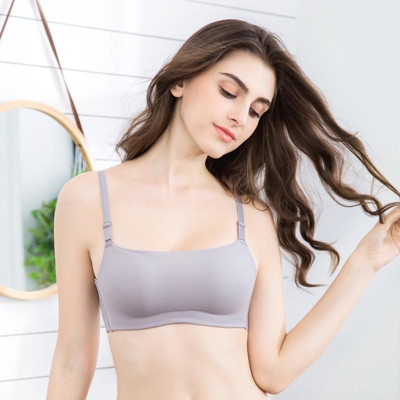 Roseheart mulheres feminino feminino cinza bralette sem fio sem fio de uma peça sutiã copo de algodão A B estudante acolchoado de moda underwear sutiãs
