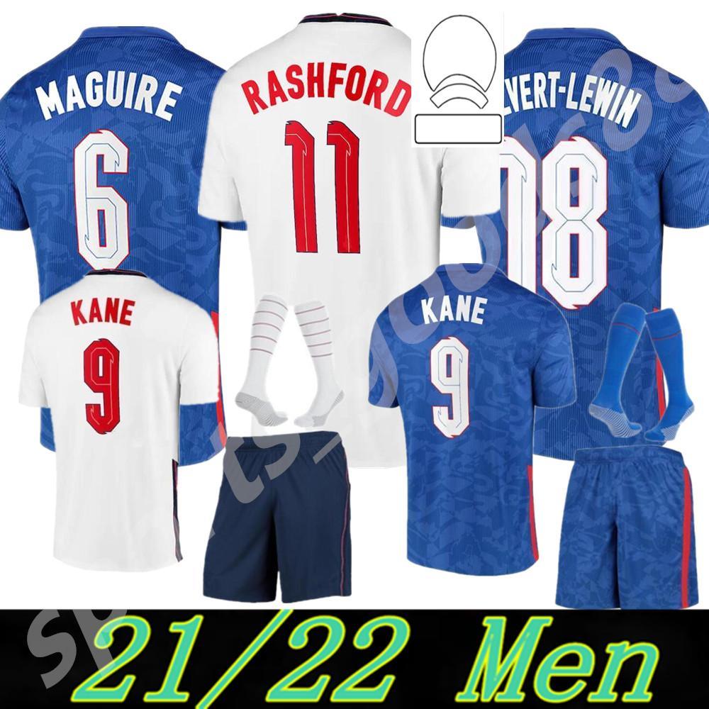 2021 2022 Copa Europeia National Team Homens + Kid Kit Inglaterra Jerseys Kane Sancho Sterling 20 21 Dele Lingard Rashford Criança Jovem Futebol