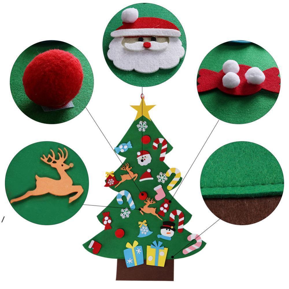 شعرت ديي شجرة عيد الميلاد أطفال اللعب الاصطناعي شجرة عيد الميلاد الجدار شنقا الحلي المنزل عيد الميلاد هدية عيد الميلاد هدية حول ZZA6904