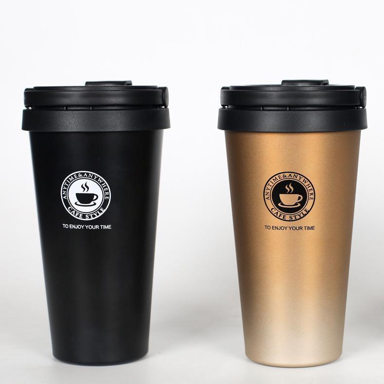 DIY Стильная кофейная чашка из нержавеющей стали портативная кружка для путешествий вакуумная колба изолированные термос бутылкой пользовательских логотипов