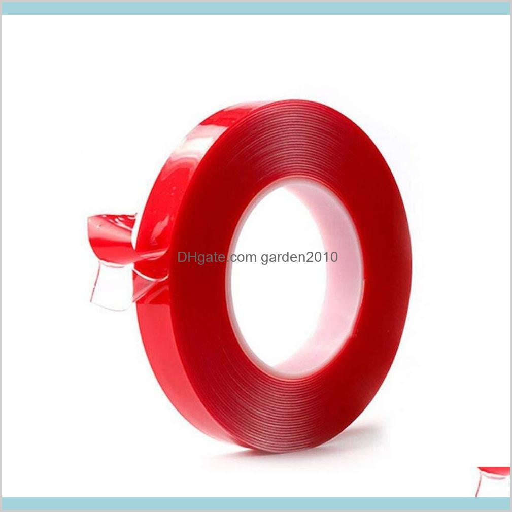Adhesive Tapes Packing Tape & Office School Business Industrial Acrylic Double Sided Roll Clear High Strength Sticker Mounting For Car