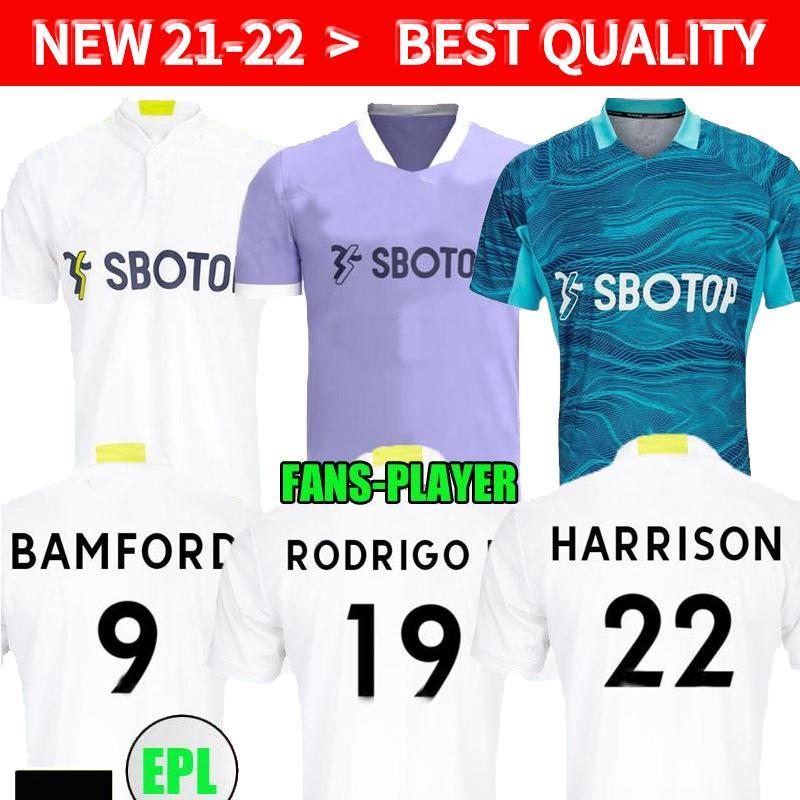 Leeds 21 22 Fussball Jerseys Fans Spieler Version 2021 2022 Startseite Firpo Junior Harrison Hernandez Costa Bamford Phillips Raphinha Männer Kinder Kits Fußball Hemd United