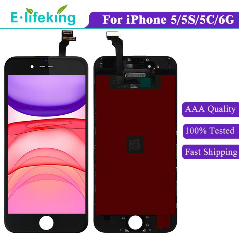 LCD For iPhone 6 6Plus 6P 5 5S 5C Display Touch Panel Screen Digitizer Full Assembly Replacement with Free DHL 100% No Dead Pixel AAA+++