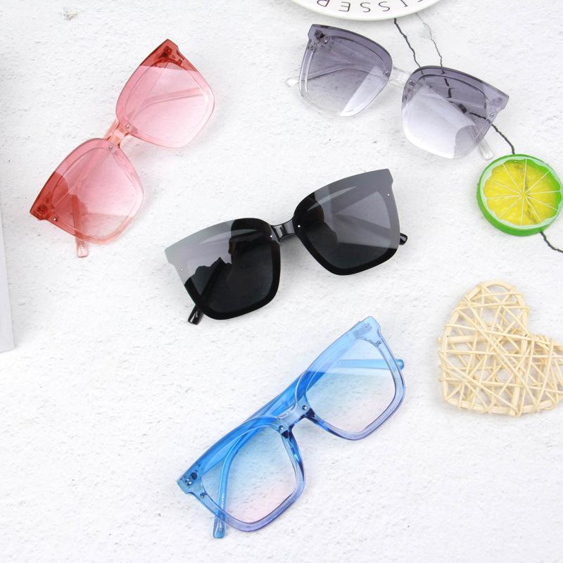 그라디언트 컬러 안경 자외선 방지 선글라스 광장 조명 색상 렌즈 패션 아기 어린이 10 5SR Y2