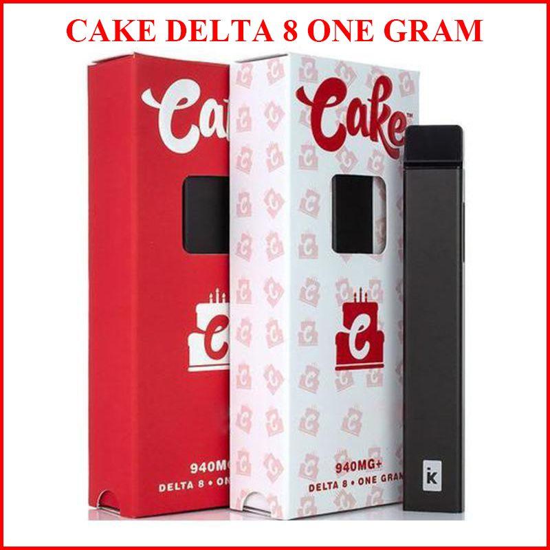 Торт Delta 8 Одноразовые Vape Pen D8 E-Cigarette Kit 280mah Батарея Один грамм 1,0 мл Толстое масло Картридж POD Перезаряжаемые ручки