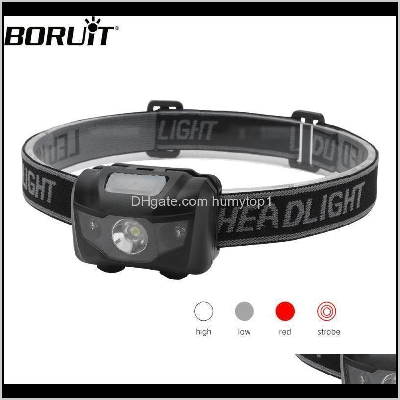 Фары BorueT 3W PORICE MINI Фара красный свет светодиодные фары 4Mode водонепроницаемый головной факел кемпинг охотничья батарея 04NNE CW60C