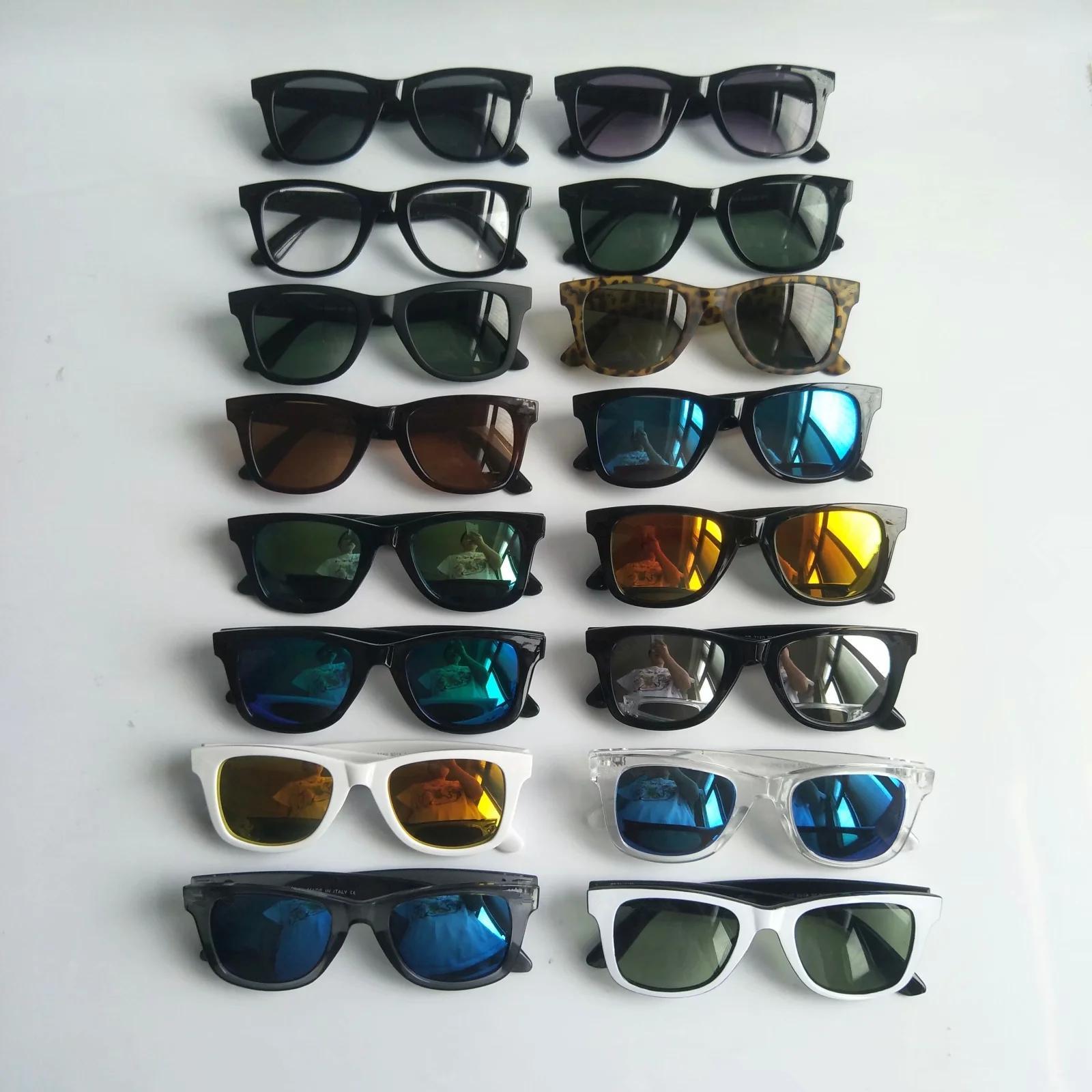 Rétro designer couleur film lunettes de soleil mode conduite hommes femmes lunettes lunettes vintage package complet 29 couleurs