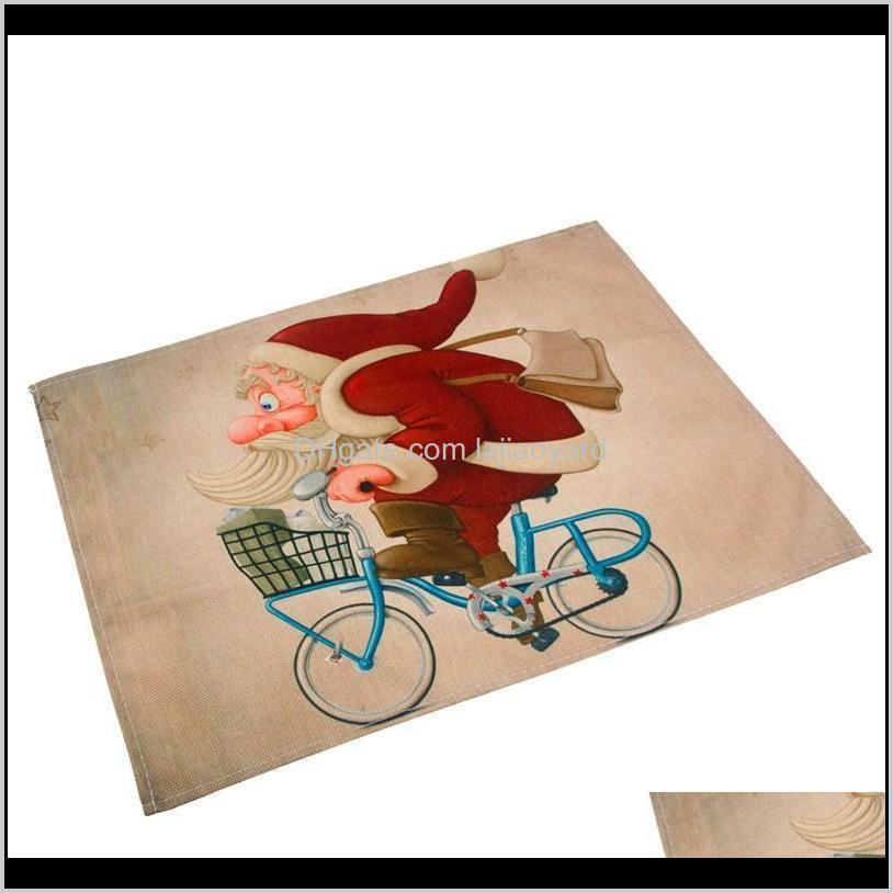 Party Decoration Fengrise 42X32Cm Santa Claus Mat Decorations For Home Placemat Table Napkin Christmas Tableware Year Wmtemd Tb6Sy Lebe3