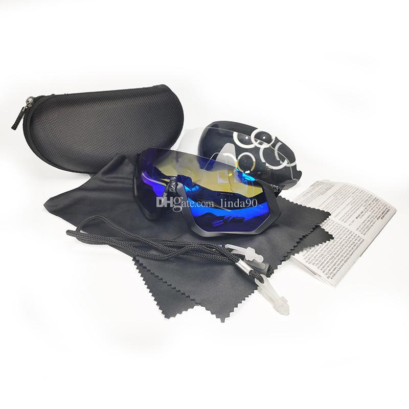 브랜드 스타일 사이클링 선글라스 자전거 자전거 안경 패션 야외 태양 안경 적당한 도로 산 검은 편광 렌즈 케이스와 함께