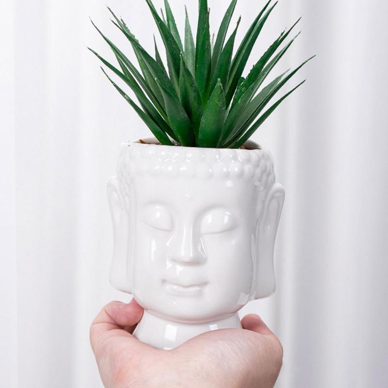 Vases Creative Bouddha Céramique Flower Pot Modèle Miniature Ornement Planteur succulent Accueil Office de bureau Salon Décoration intérieure