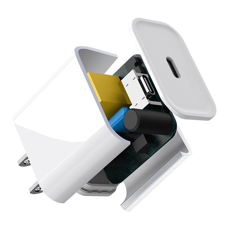 OEM Quality 18W / 20W PD Быстрое зарядное устройство USB-C Быстрая зарядка Тип C Домашний адаптер питания для 6 7 8 x 11 12 Pro Max с розничной коробкой