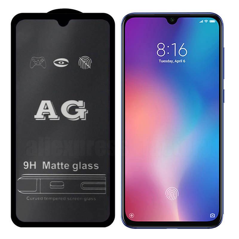 AG ماتي الزجاج المقسى الحرس flim مكافحة بصمات الأصابع حامي الشاشة واقية منحنية منحنية غطاء قسط درع ل iPhone 13 برو ماكس 12 ميني 11 XS XR X 8 7 6 6S زائد SE