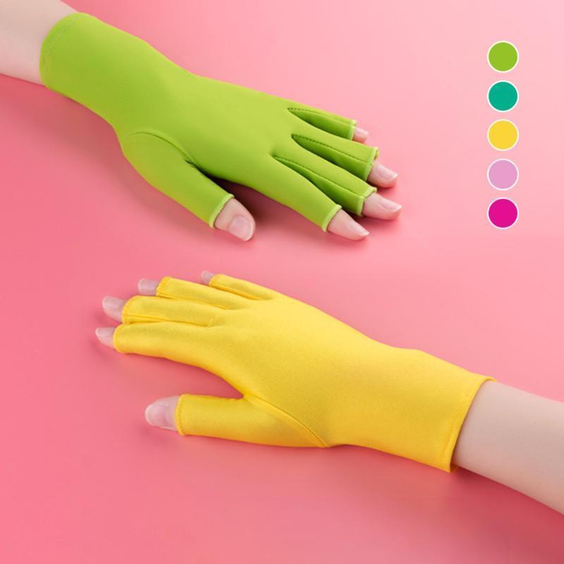 خمسة أصابع قفازات أصابع مكافحة الأشعة فوق البنفسجية حماية مسمار الصمام مصباح مجفف ضوء أداة المرأة حجم واحد صالح الكل