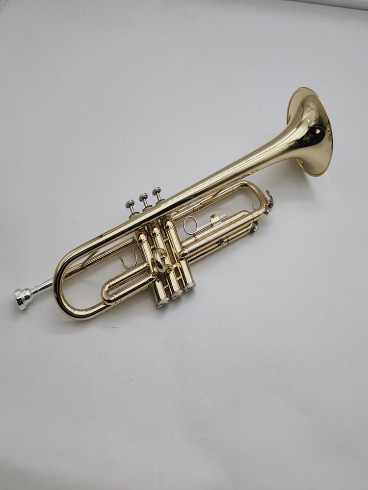 MARGEWATE B Flat Trumpet Brass Plated Phosphor Bronze Material Professional Musical Instrument With Case Golves Accessories