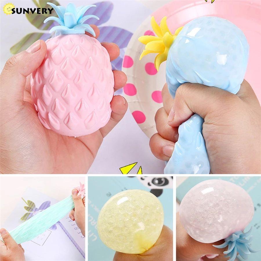 8 * 5 cm Malla de fruta colorida Squishy Bolas anties estreses Squeeze Toys DiscomPresione Ansiedad Ventilación Regalo para niños W1584