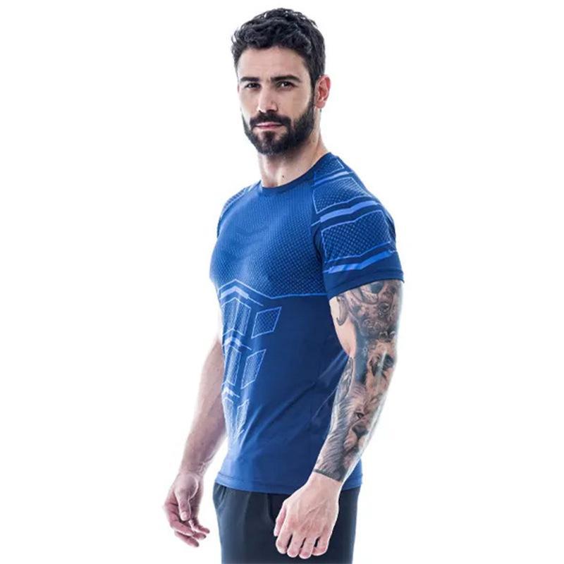 Men Running Shirt Short Sleeve Mens Jogging T Shirts Active Quick Dry Training Jersey Sports Clothing JSF20