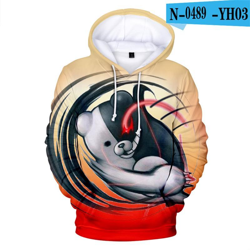 Herren Hoodies Sweatshirts Danganronpa Hoodie Sweatshirt Kinder Anime Cartoon Tops 3D Game Kleidung Monokuma Übergroße Moletom Kinder Mit Kapuze