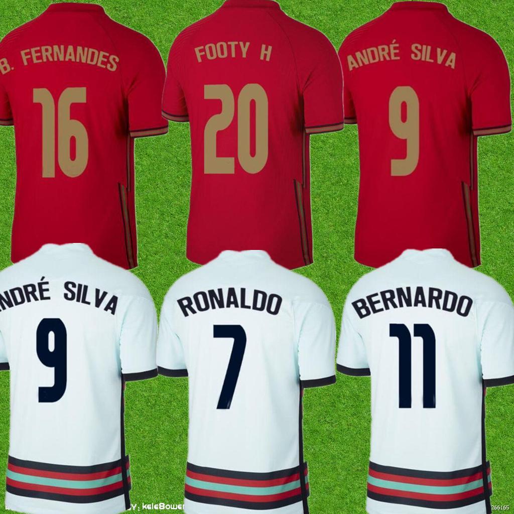 Top 20-21 Personalizado 17 Guedes 10 Bernardo 5 Grelor 4 Ruben Dias 3 Pepe 13 Danilo 9 André Silva Tailandesa Qualidade de Futebol Jersey barato 11 B.fernandes