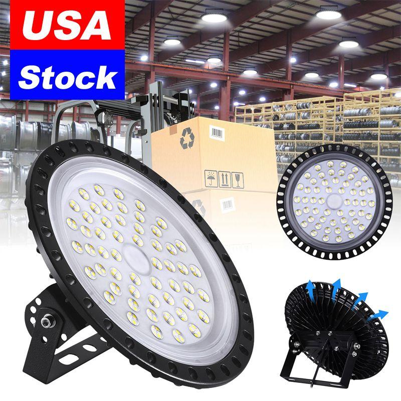 LED 높은 베이 빛 50W 100W 200W 300W 500W 6500K 멋진 흰색 UFO 홍수 조명 지하실, 전시 홀, 경기장 및 기타 장소에서 조명에 적합