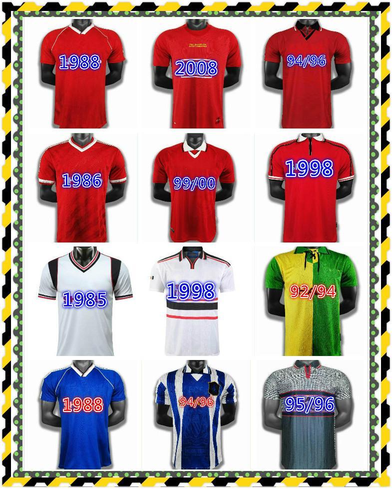 Retro Man Utd Cantona Fussball Jersey 01 02 03 04 05 06 07 08 09 10 11 12 13 Beckham Altes Fußballhemd