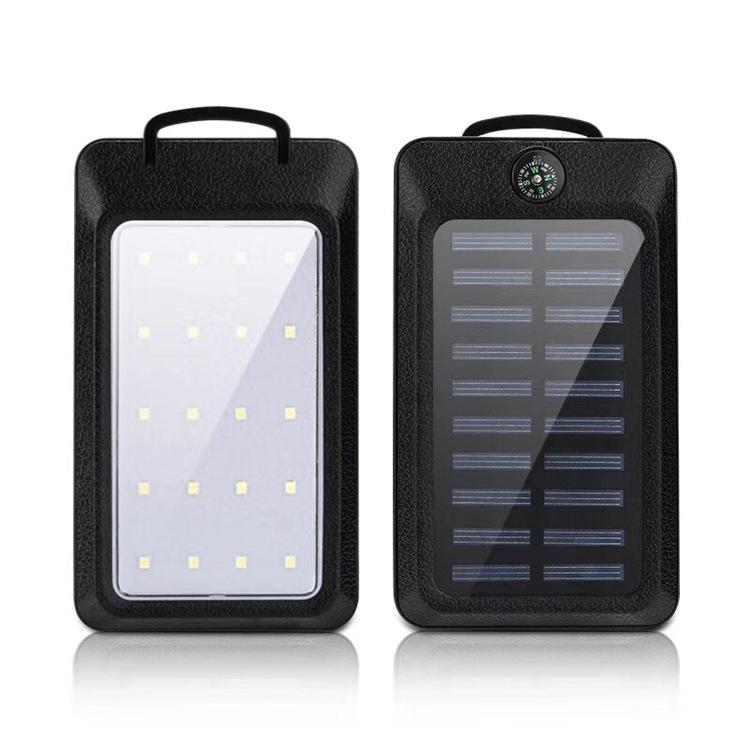 20000mAh Solar Power Bank 2 USB Port Charger Externer Backup-Akku mit Kleinkasten für Samsung Mobiltelefon