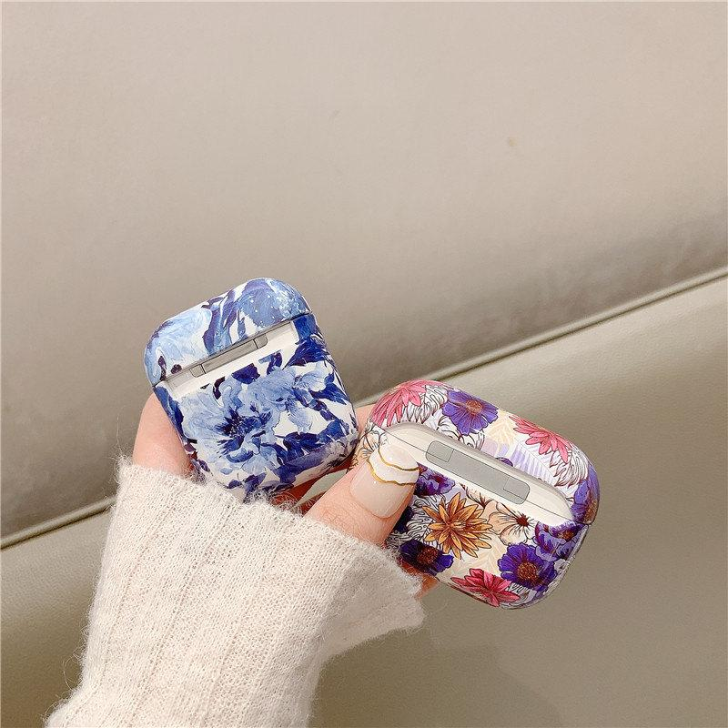 For Apple AirPods 1 2 3 Pro Colorful Flower Cases Wireless Bluetooth Earphone Glossy Protect Cover