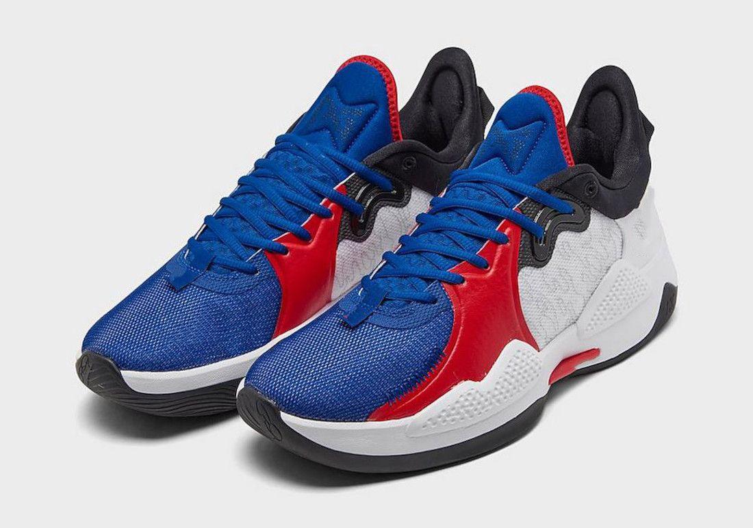 PG 5 EP Clippers PlayStation Erkekler Basketbol Ayakkabı PS5 Beyaz Üniversitesi Kırmızı Çocuklar Spor Ayakkabı ile Kutu Mağaza Boyutu 4-12